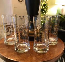 Set of 4 Vintage Drinking Glass