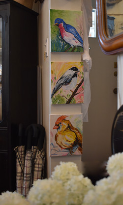 Handpainted Bird Canvases