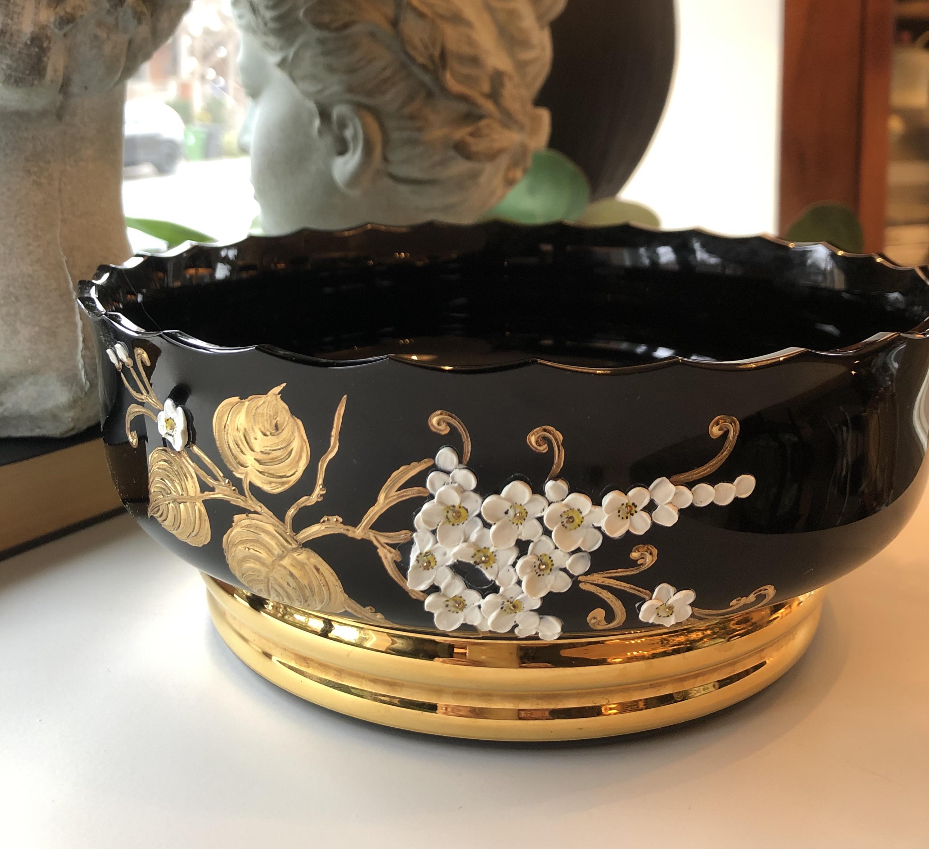 Antique Black Amethyst Bowl