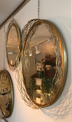 Gold Decorative Branch Mirror