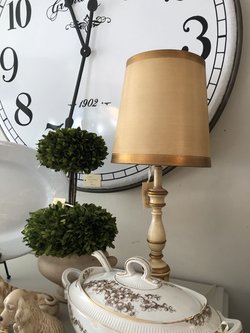 Smal Gold and White Vintage Lamp