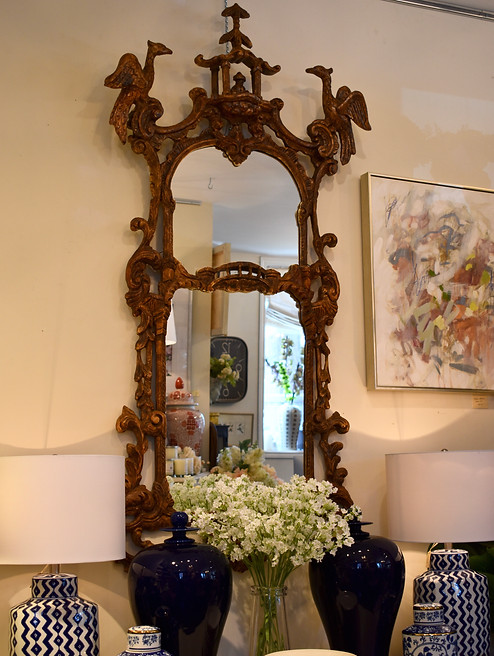 Vintage Chinoiserie Mirror
