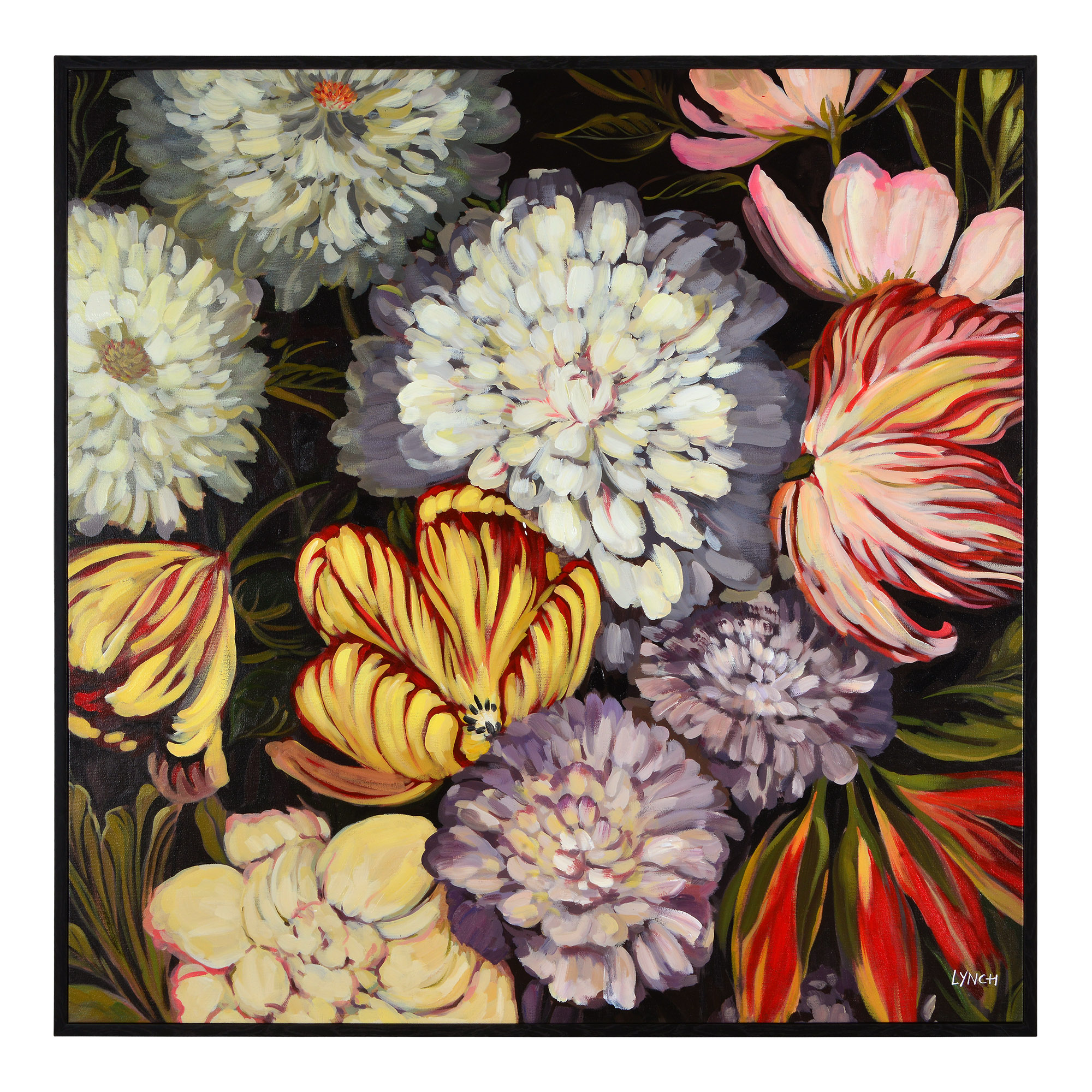Charlene Lynch Handpainted Floral