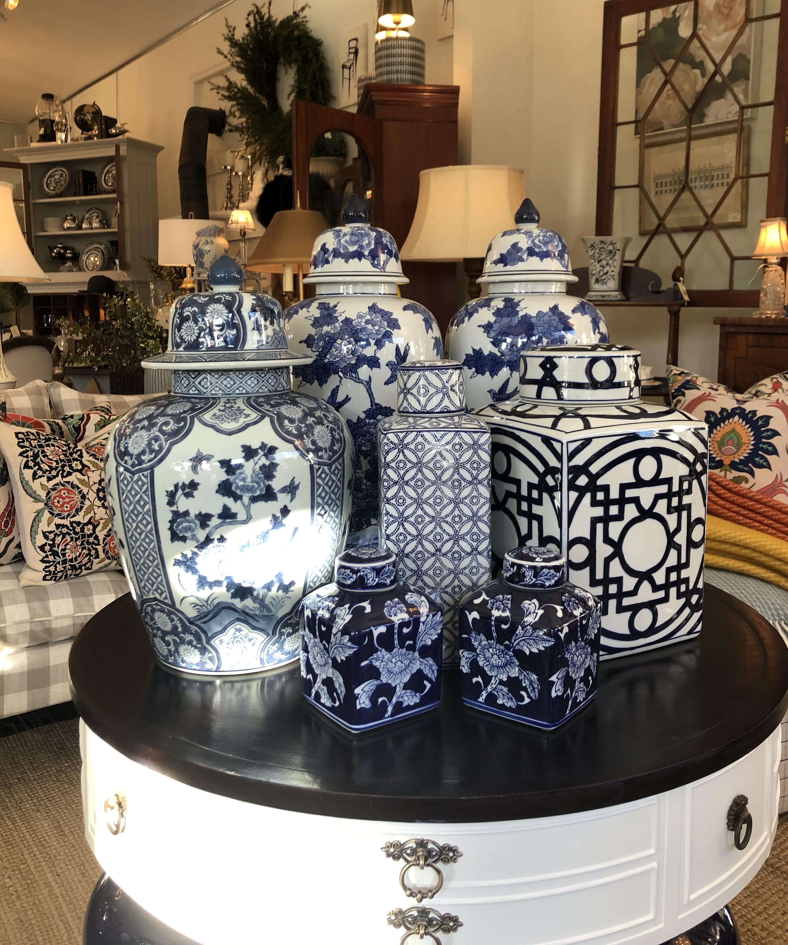 Blue and White Ginger Jar Assortment