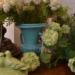 Vintage Turquoise Urn Vase