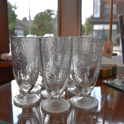 Set of 8 Deco Style Embossed Cordial Glasses