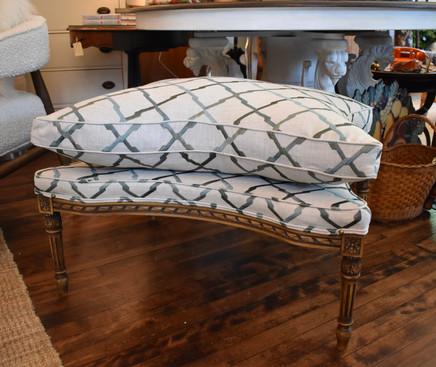 Reupholstered Vintage Ottoman