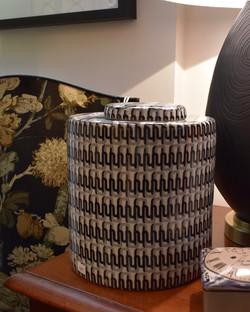 Black and White Decorative Urn