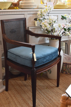 Vintage Refinished and Reupholstered Can