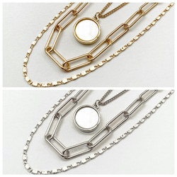 Multistrand Chain Necklaces in Gold and Silver