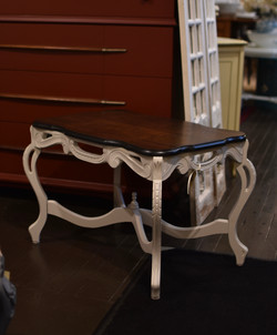 Vintage Coffee Table with Painted Base and Tray