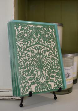 William Morris Wild Lily Laser Cut Green - Blank