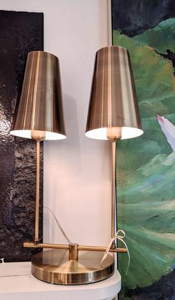 Modern Double- Brass Lamp