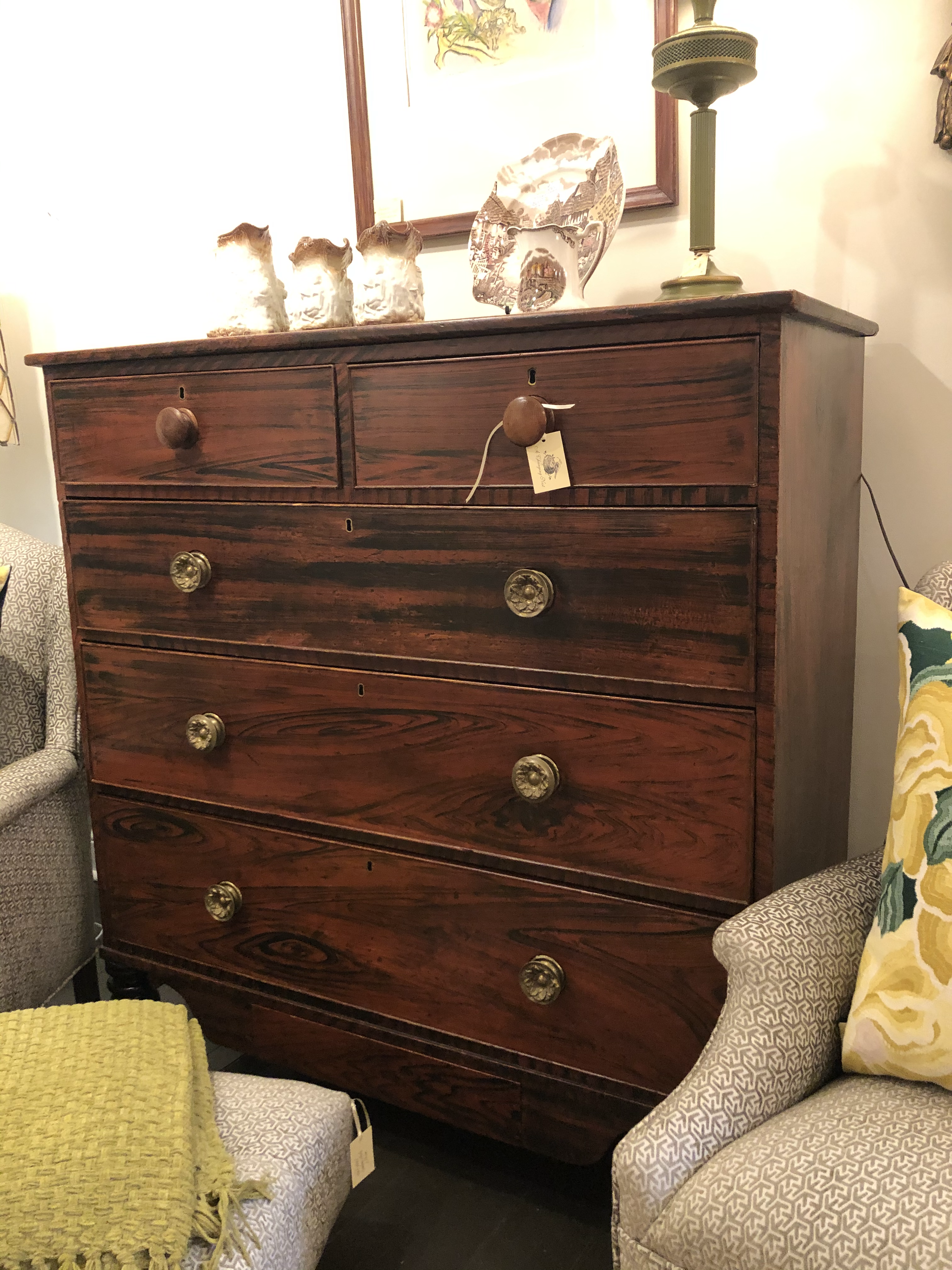 Antique Faux Finish Dresser