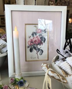Vintage Framed Rose Floral