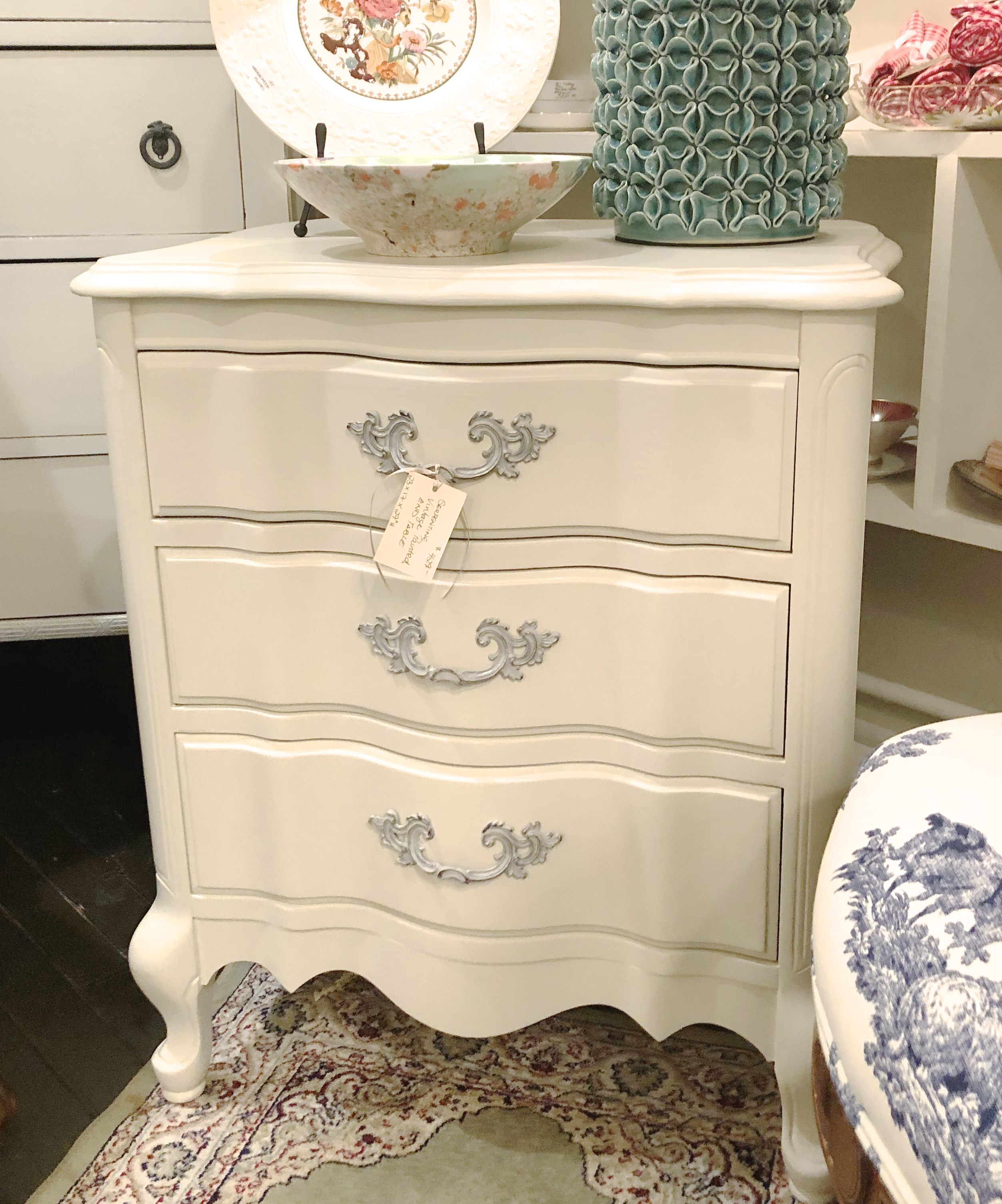 Painted Vintage End Table