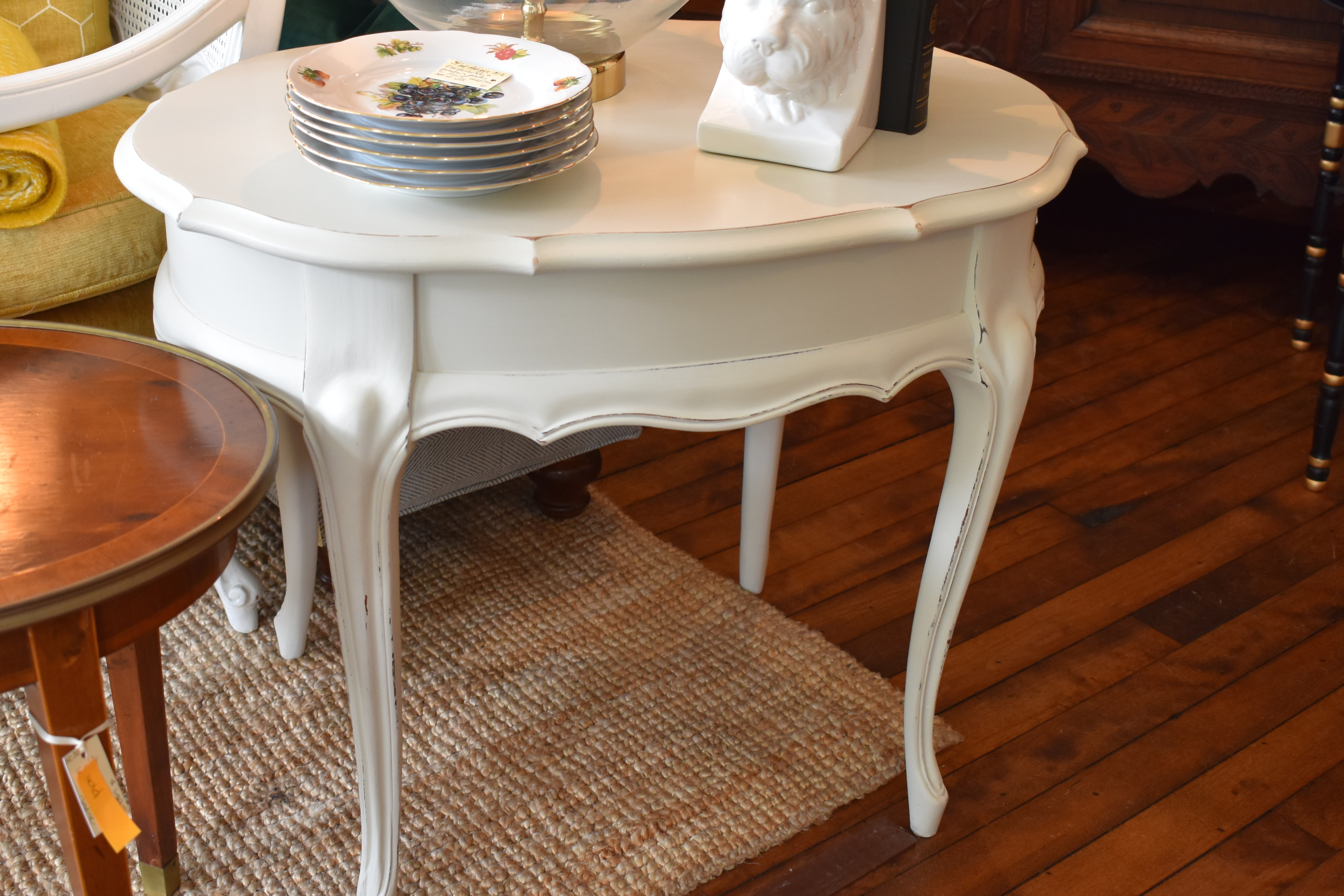 Painted Oval End Table