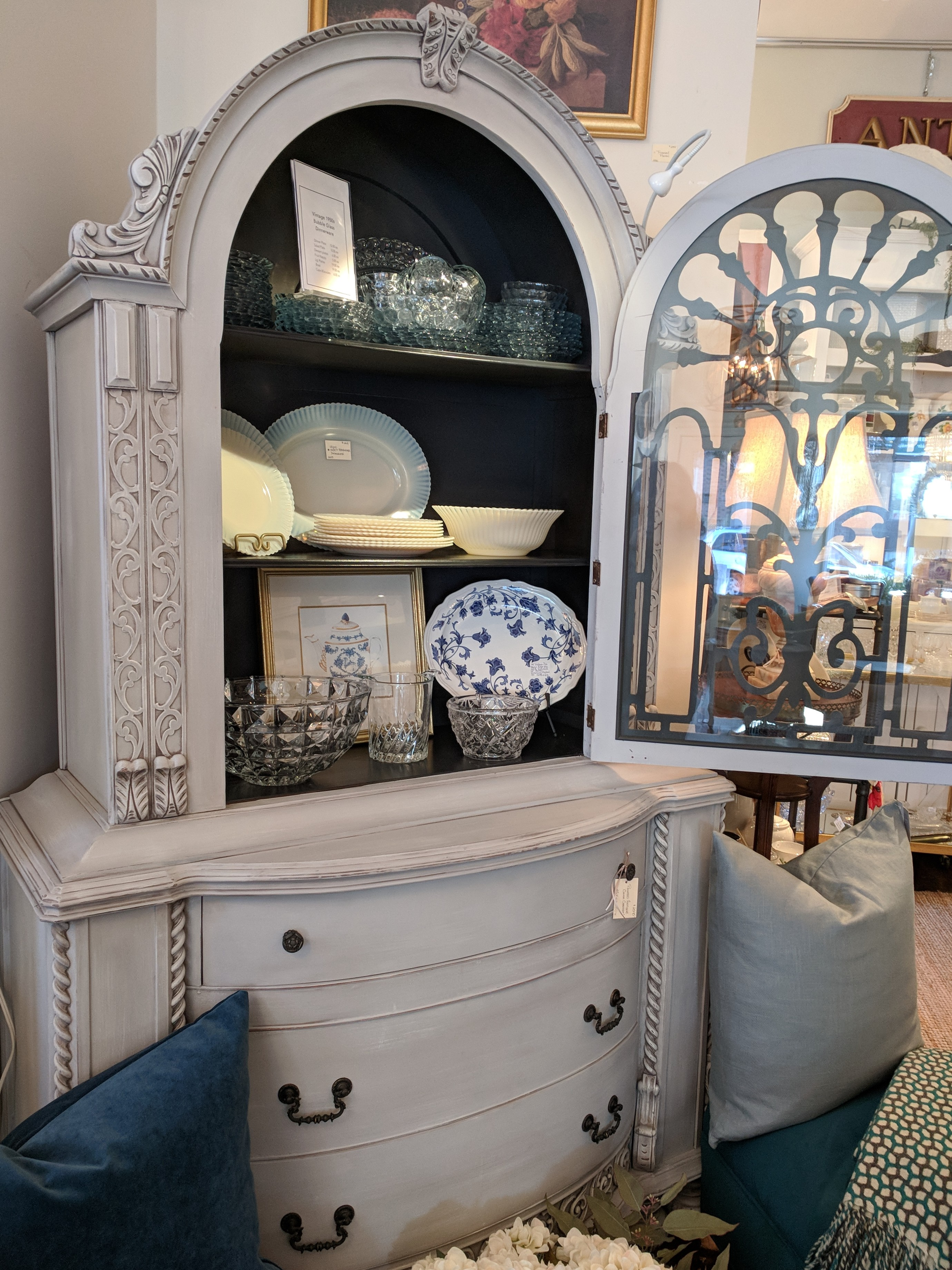 Painted Vintage Hutch