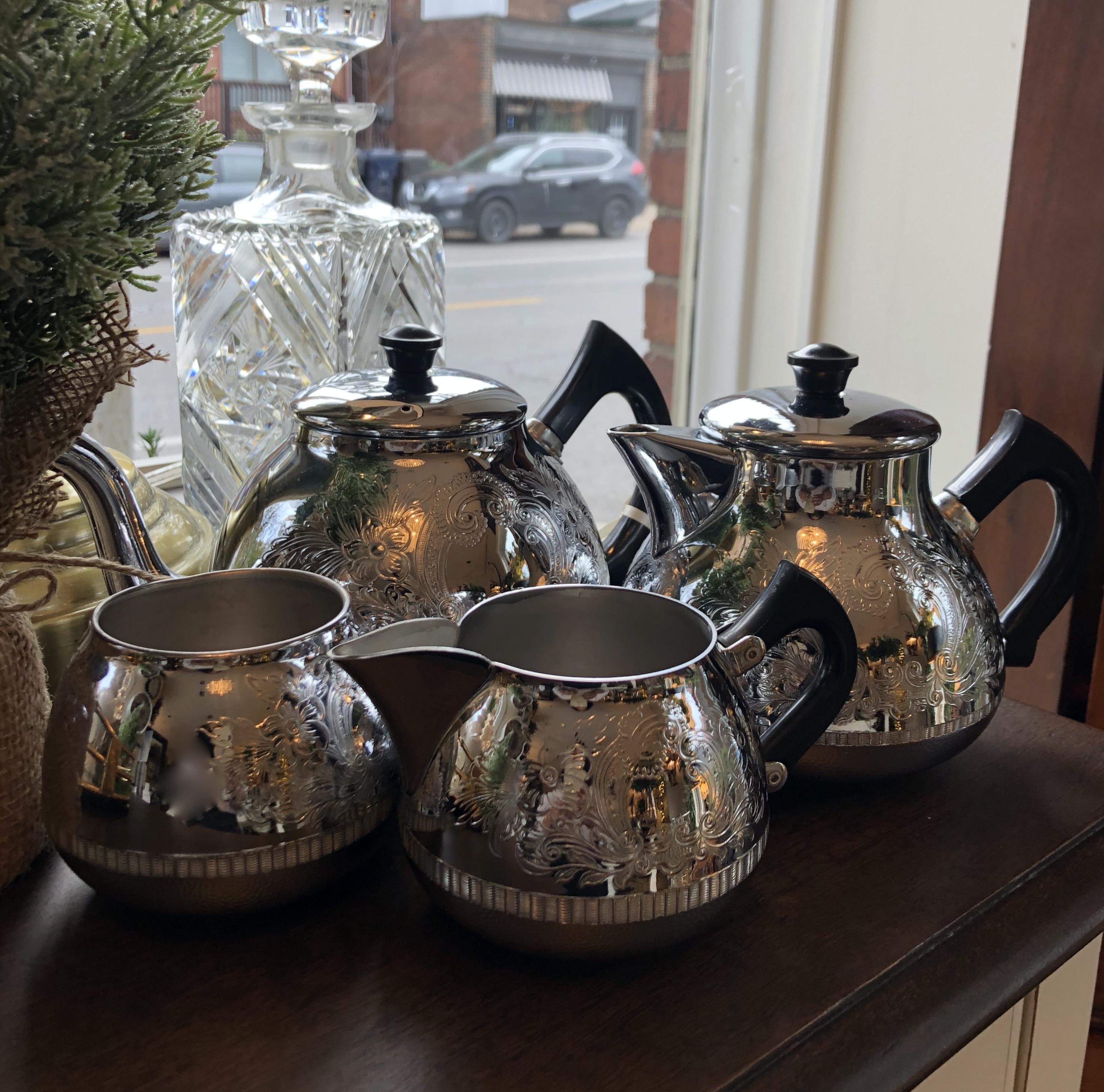Vintage 60's Chromalin Tea Set