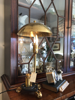 Brass and Cast Iron Lamp