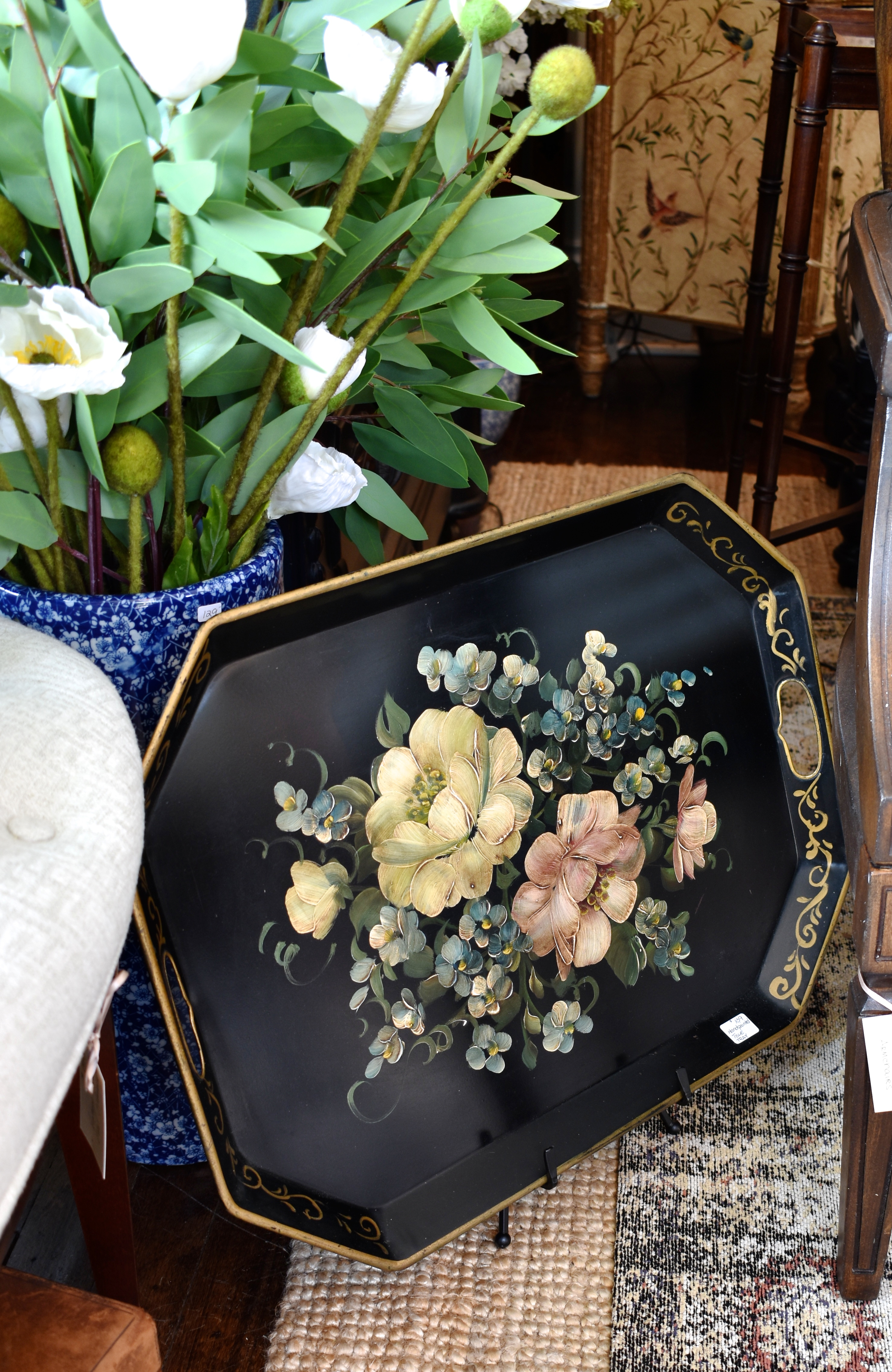 Vintage Painted Tray