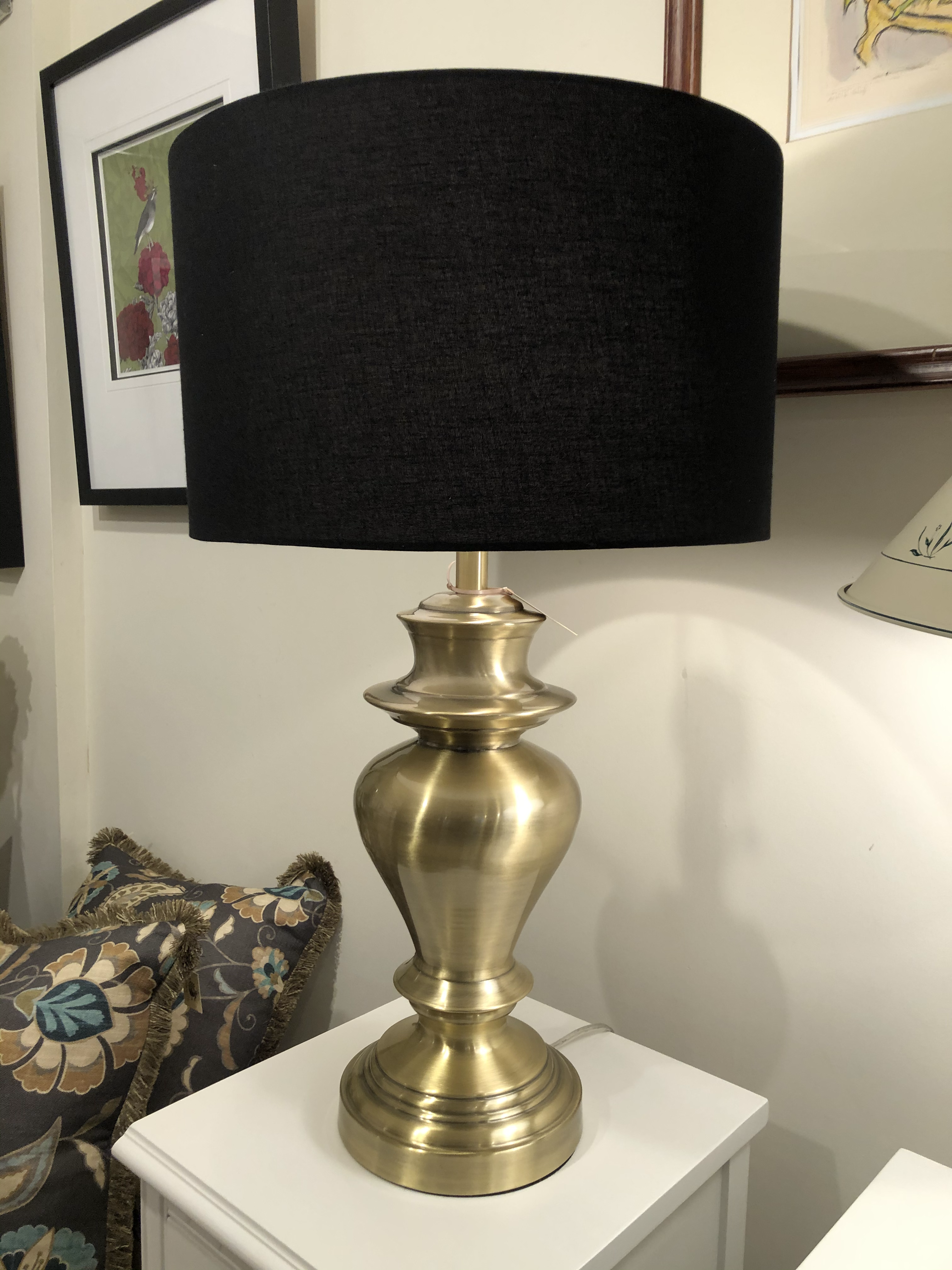Brass Lamp with Brass Shade