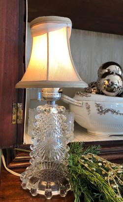 Pair Vintage Crystal Lamps
