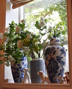 """21"""" Tall Blue Floral Ginger Jar"""