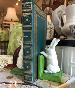 Pair Bunny Bookends