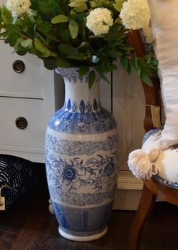 Tall Decorative Chinoiserie Vase