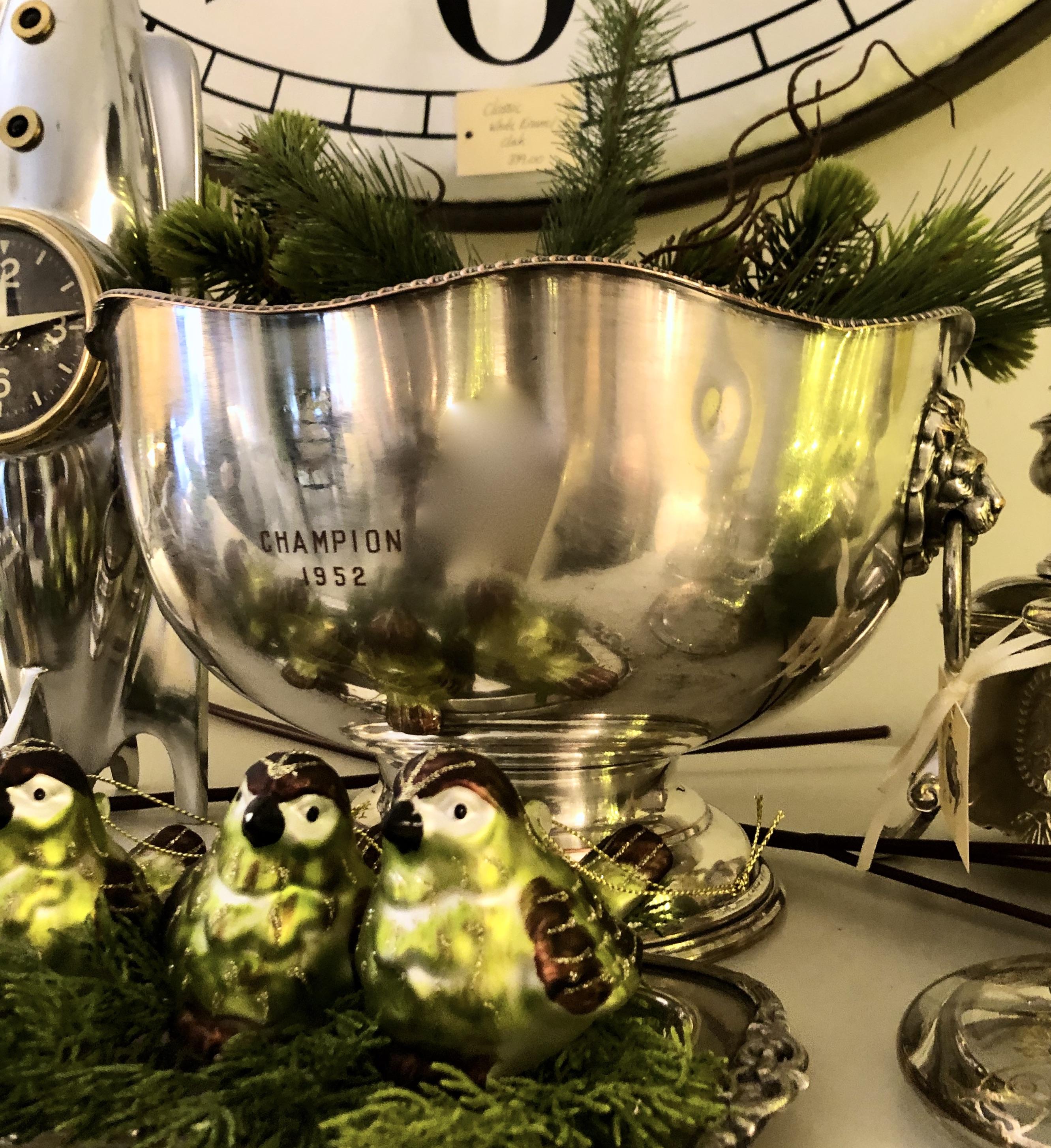 Vintage Trophy Bowl