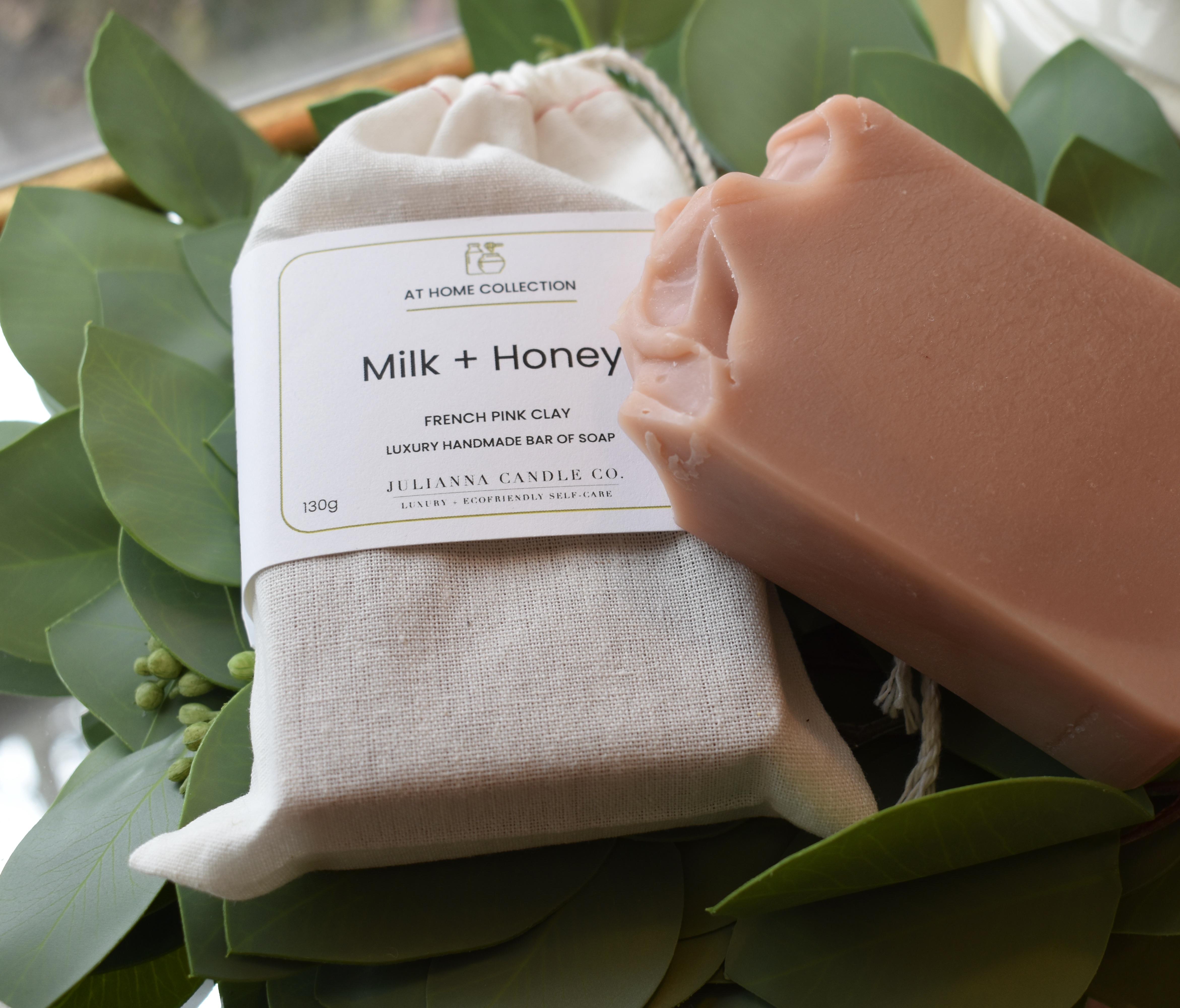 Pink Clay Soap Bars