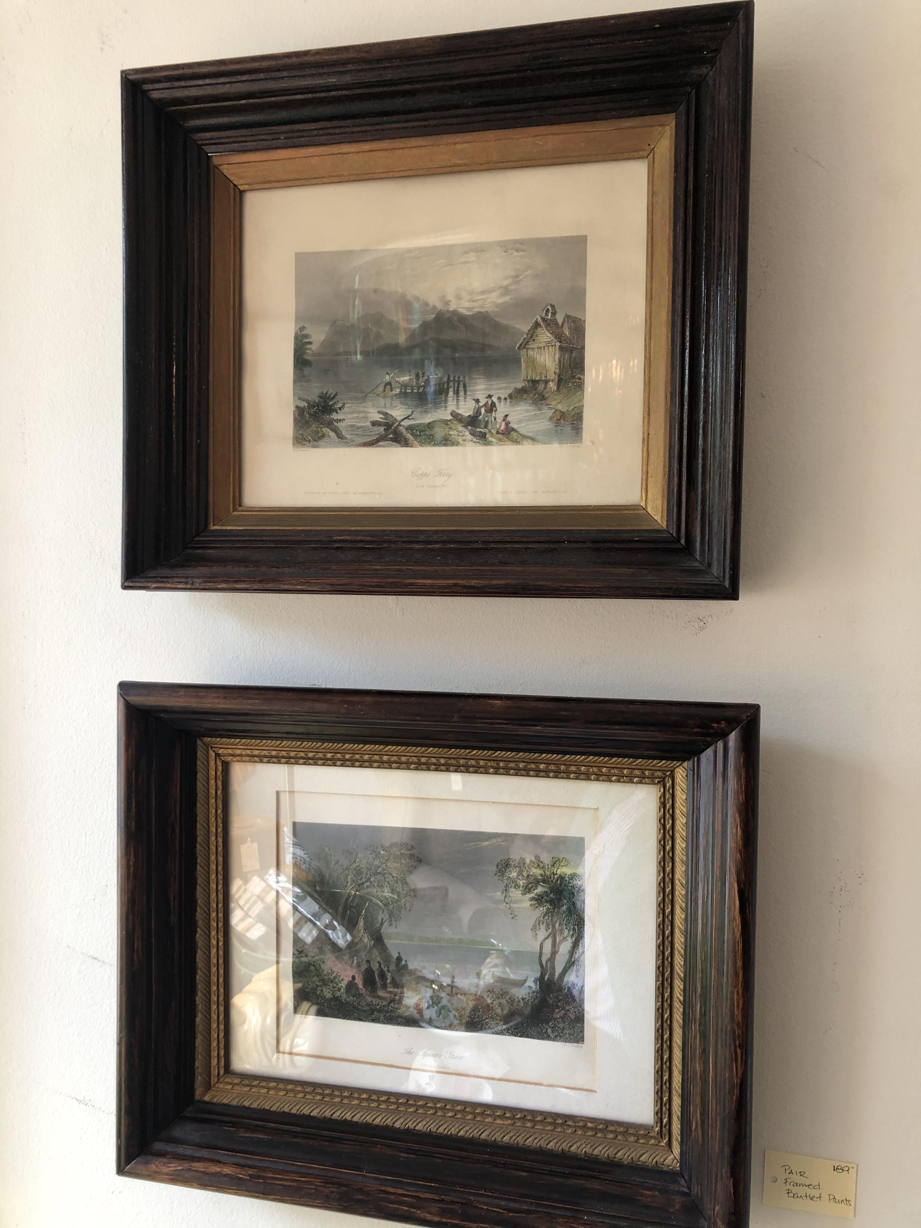 Pair of Framed Bartlett Prints