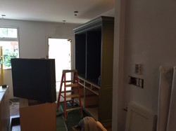 New Cupboard being installed