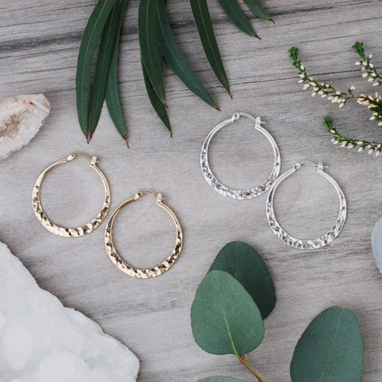 Freya Hoops Gold and Silver