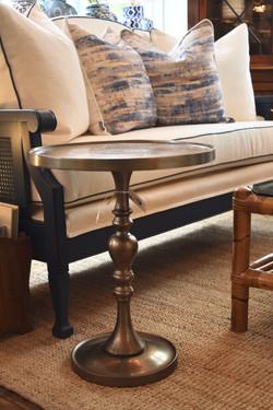 Antique Brass Pedestal Table
