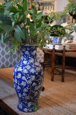 Blue Cherry Blossom Vase