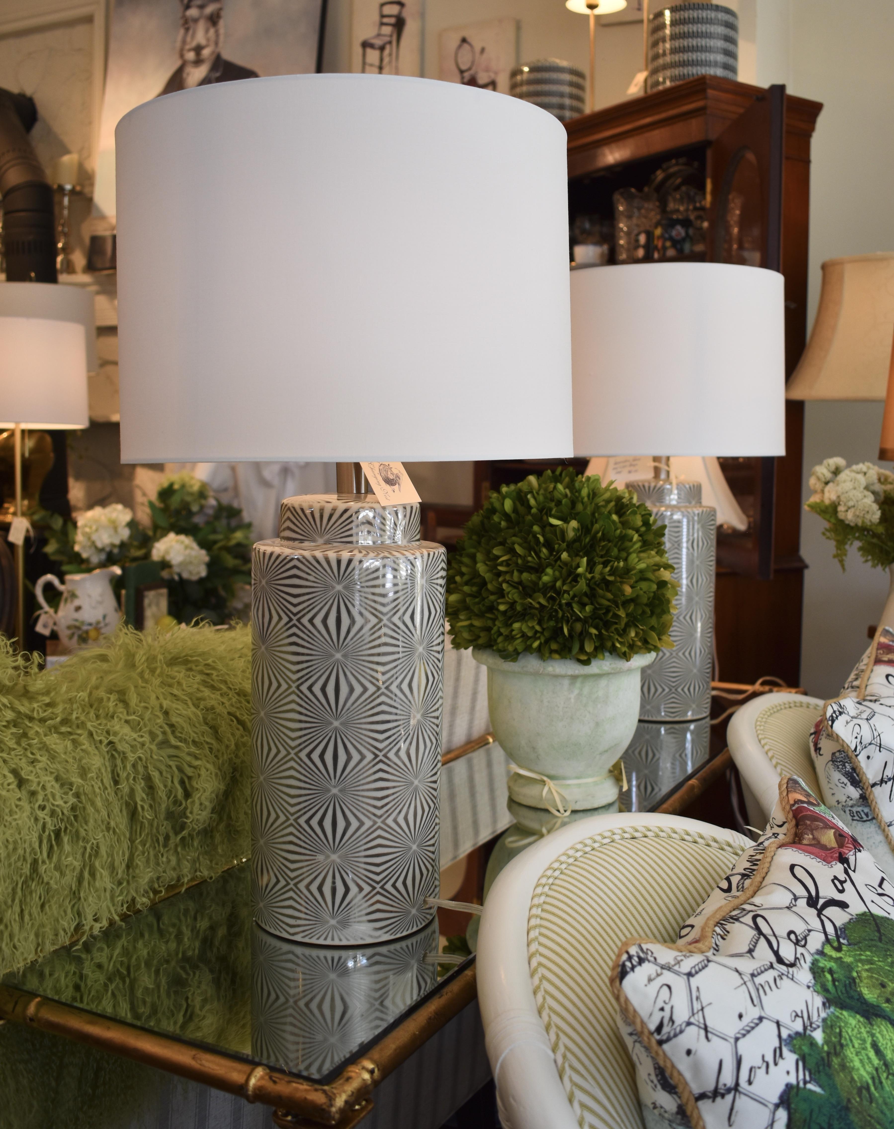 Modern Geometric Ceramic Lamp