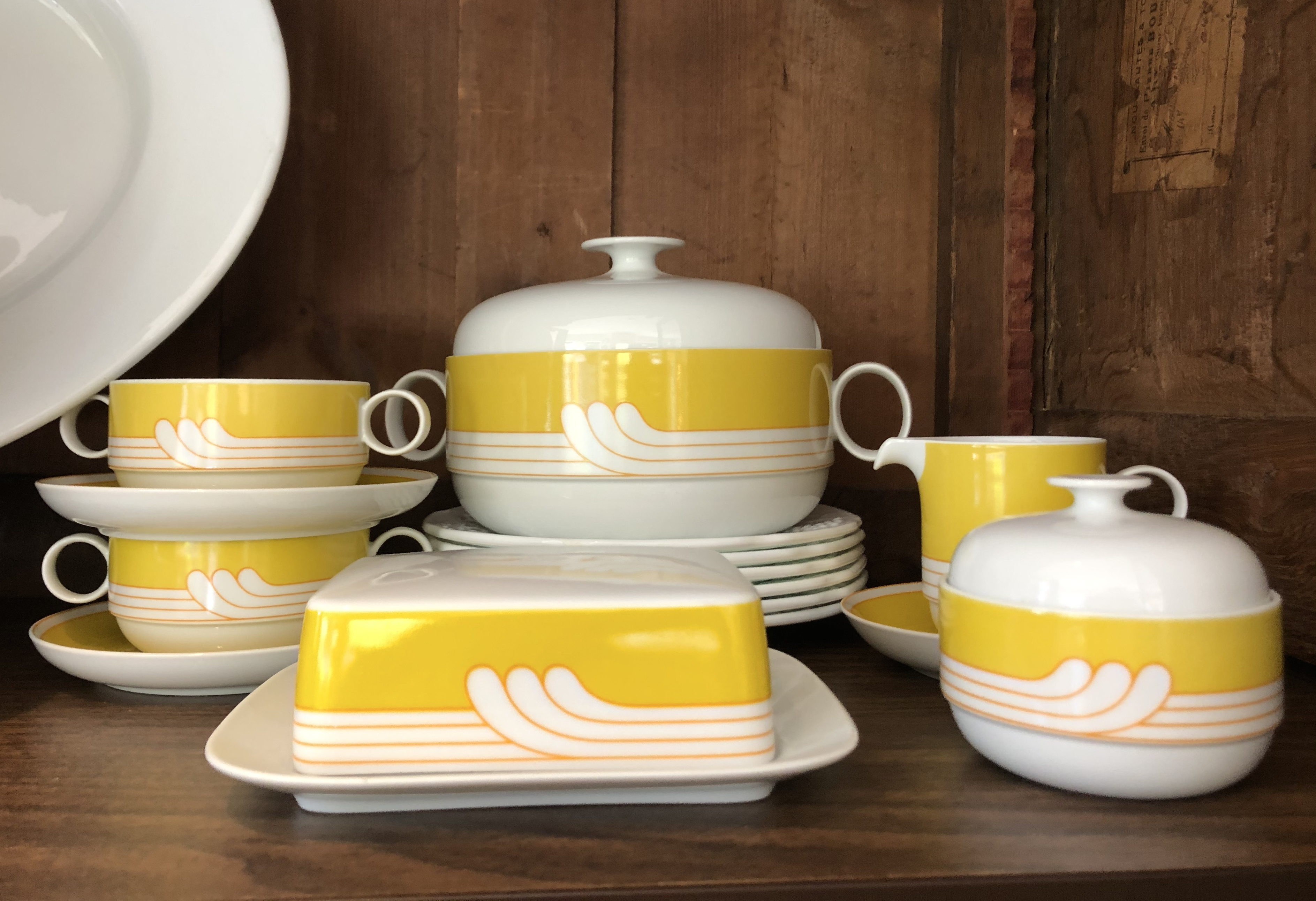 Rosenthal Exotic Yellow Butter Dish