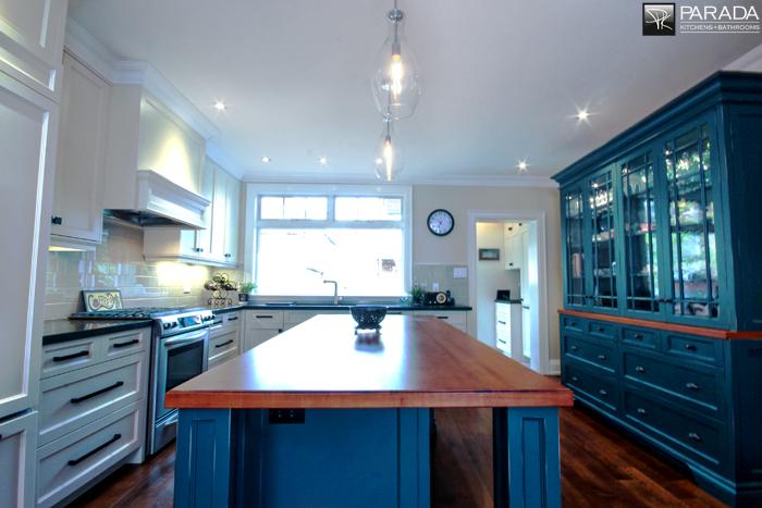 Kitchen Island and Custom Cabinet
