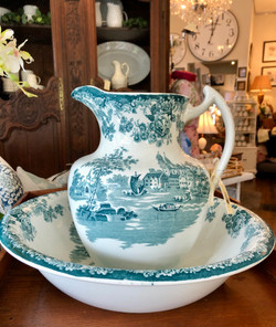 Vintage Ironstone Pitcher and Bowl