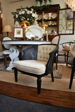 Pair of Vintage Painted Cane Chairs