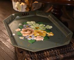 Vintage Handpainted Tin Tray