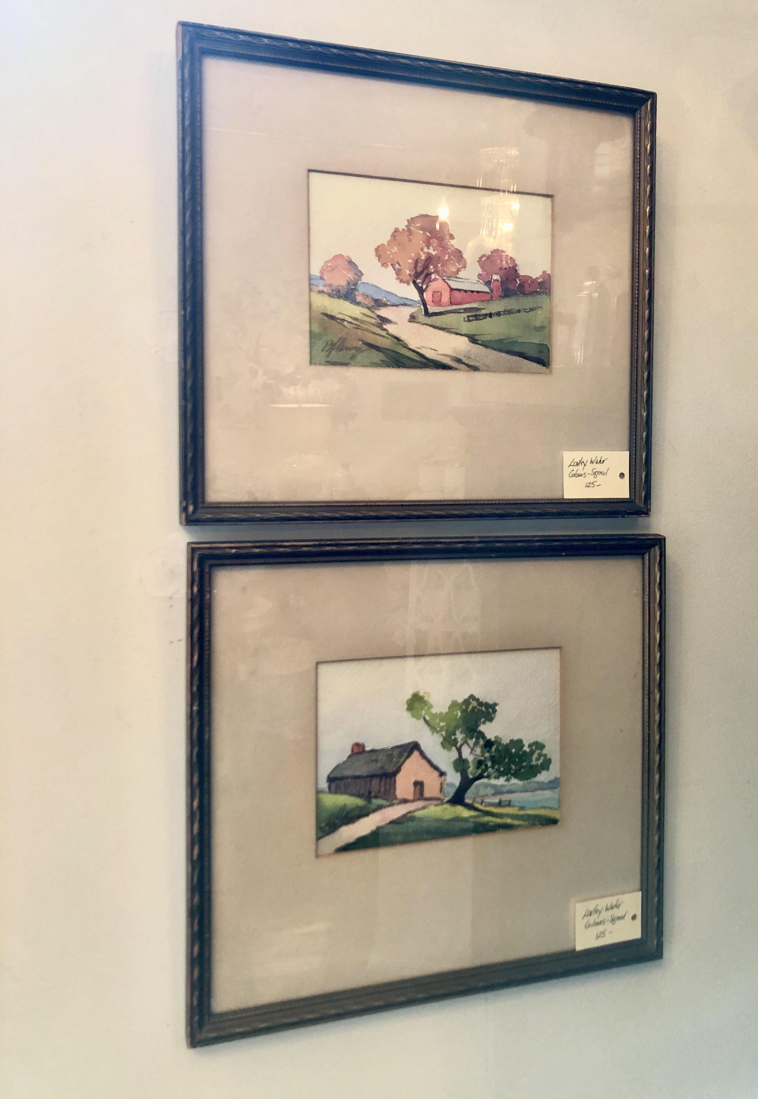 Framed Original Watercolours