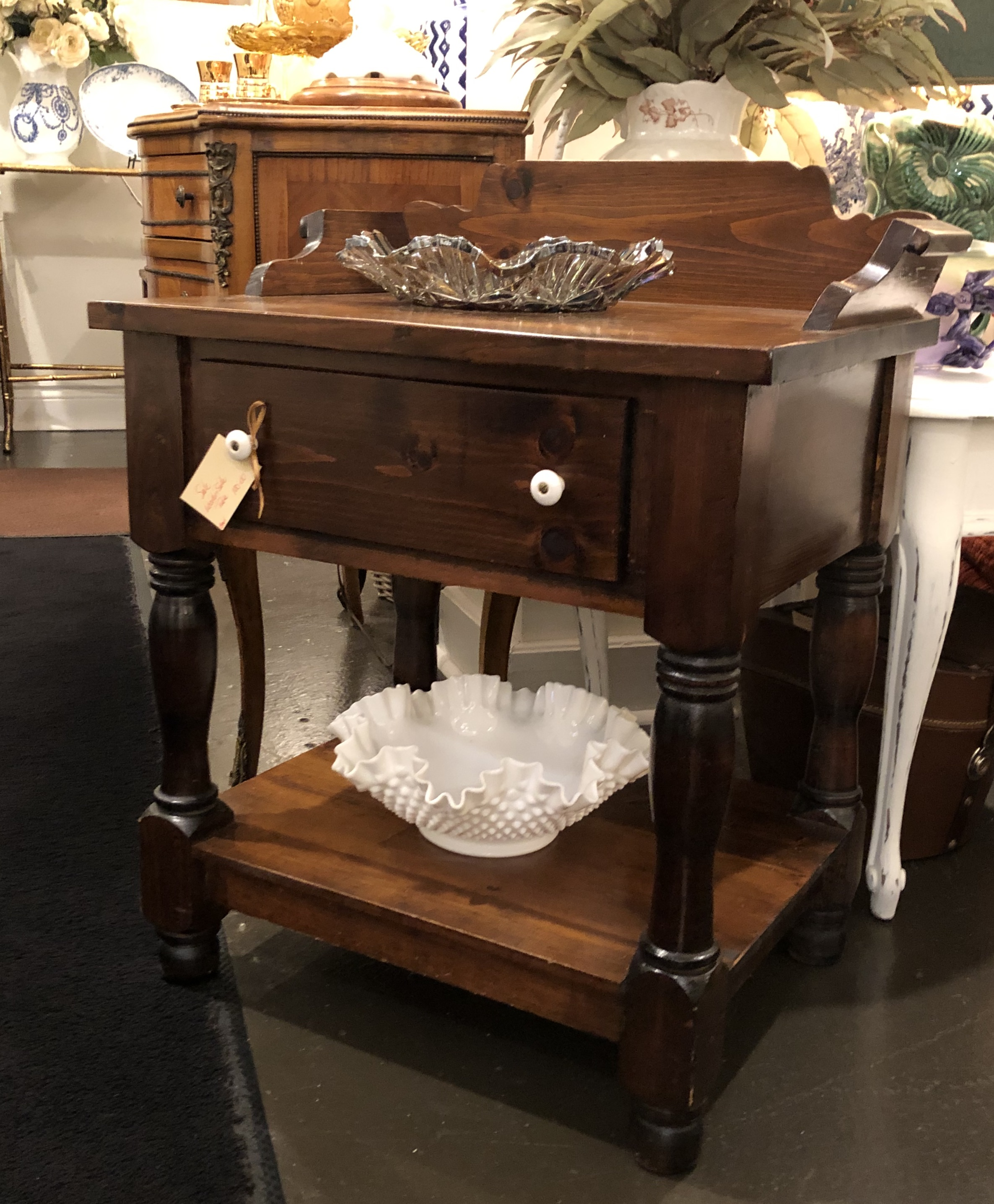 Vintage Washstand End Table