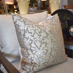 Cream Damask Feather Cushion