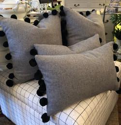 Custom Grey Wool with Pom Pom