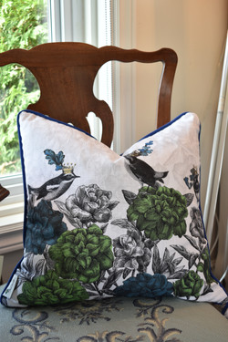 Designer Feather Accent Cushions - Coral 18
