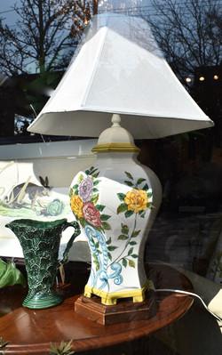 Ceramic Floral Urnstyle Lamp 169
