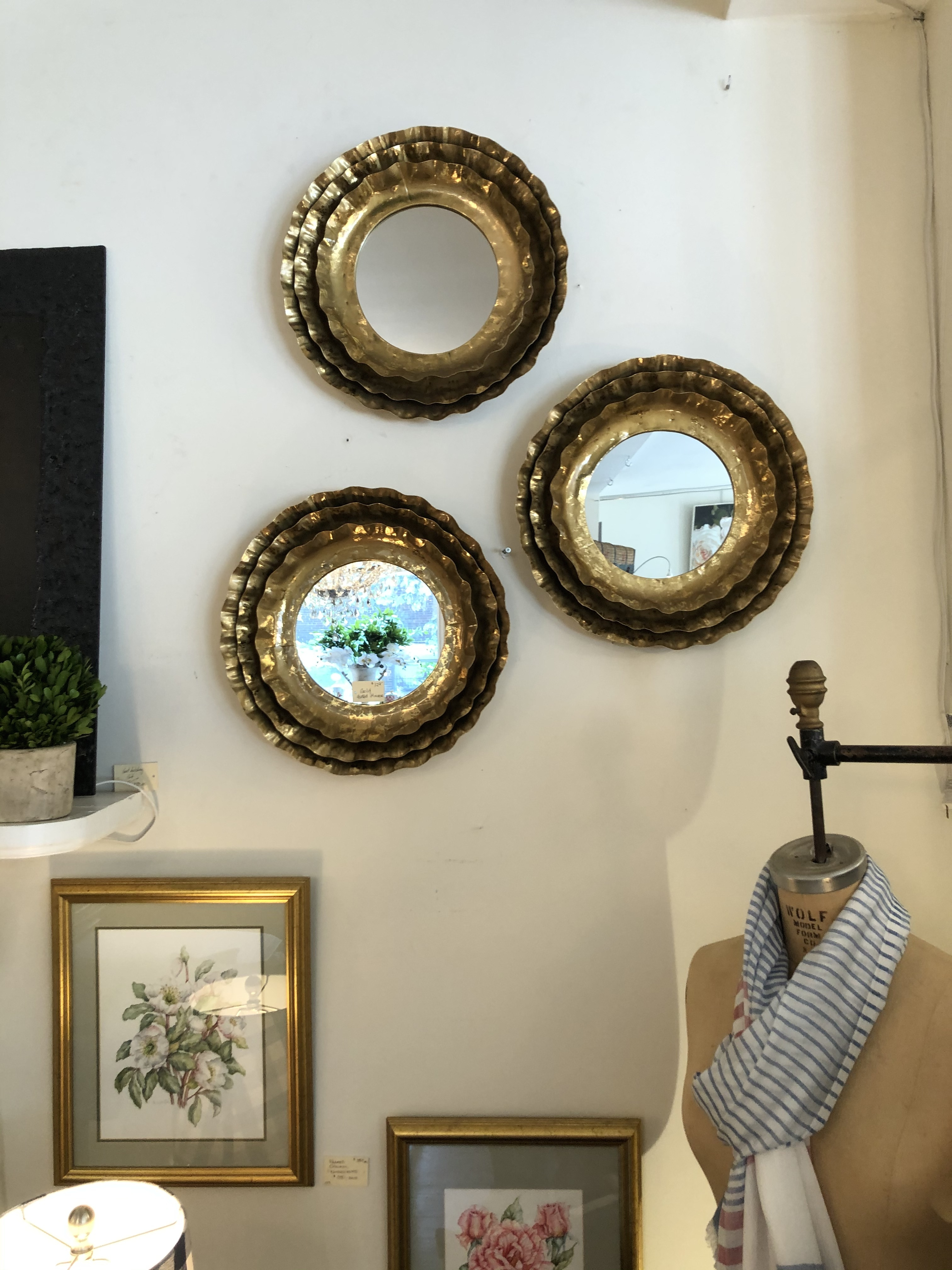 Gold Fluted Mirrors